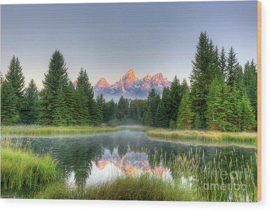 Grand Tetons Sunrise 2 Wood Print