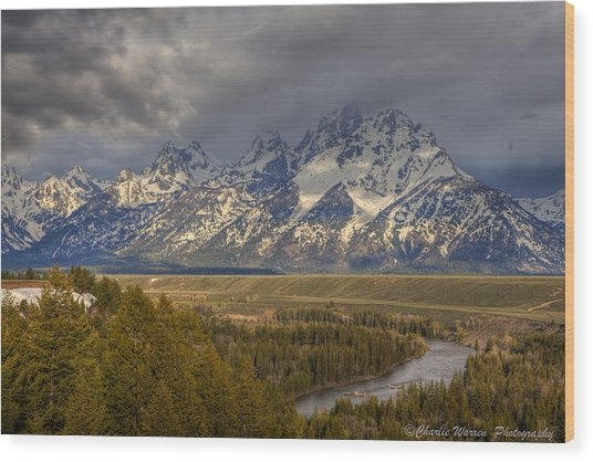 Grand Tetons Snake River Wood Print