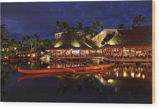 Grand Wailea Maui Wood Print