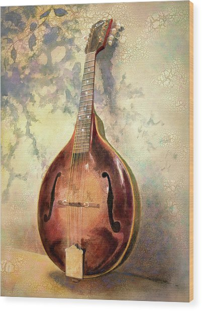 Wood Print featuring the painting Grandaddy's Mandolin by Andrew King