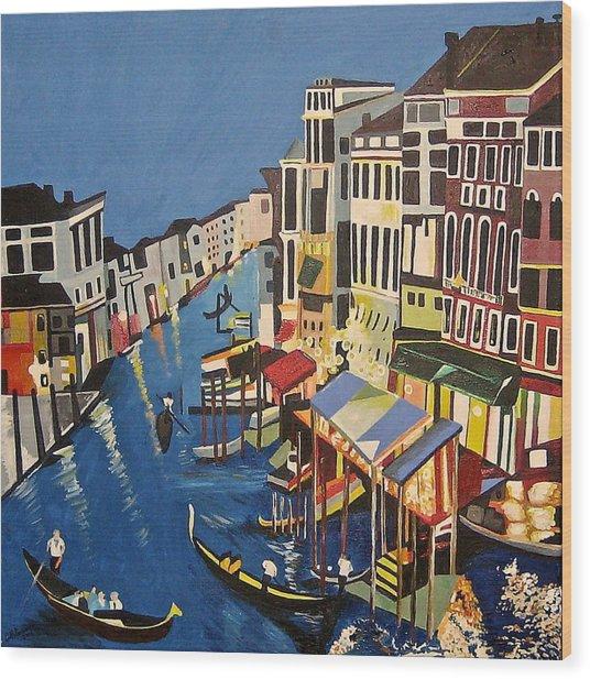 Grande Canal Wood Print