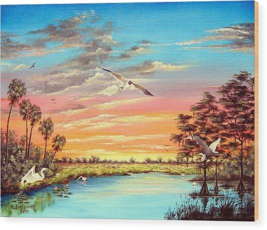 Grandeur Of The Glades Wood Print by Riley Geddings