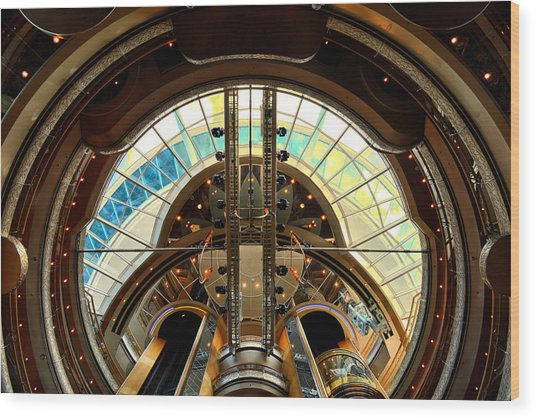 Grandeur Of The Seas Gold Centrum Wood Print