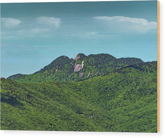 Grandfather Mountain, Nc Wood Print by Patricia Brock