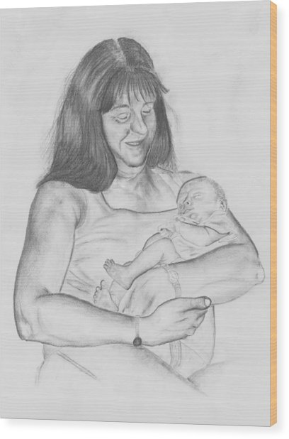 Grandma And Grandchild Wood Print by Russ  Smith