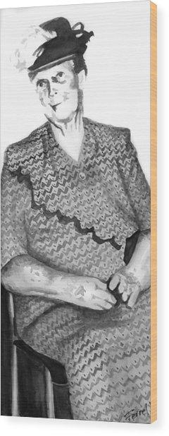 Grandma Wood Print by Ferrel Cordle