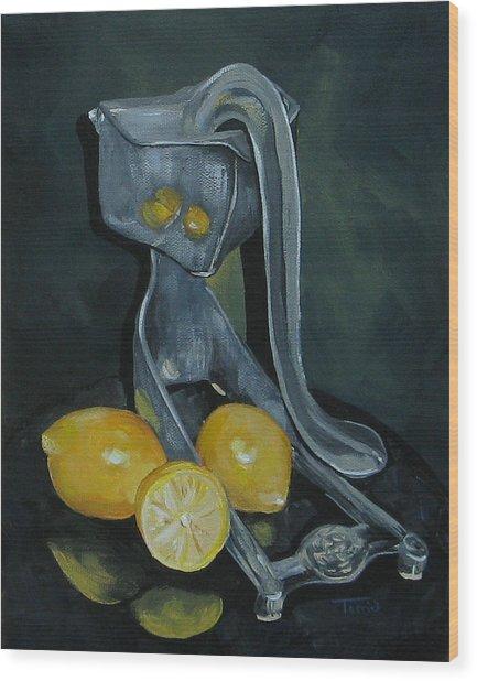 Grandma's Lemons Wood Print