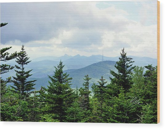 Grandmother Mountain Wood Print