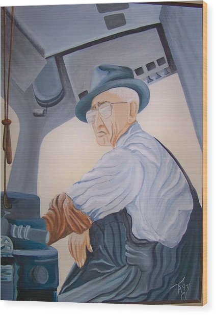 Grandpa Albee Wood Print by Tammera Malicki-Wong