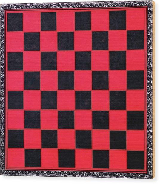 Grandpa's Checkerboard Wood Print
