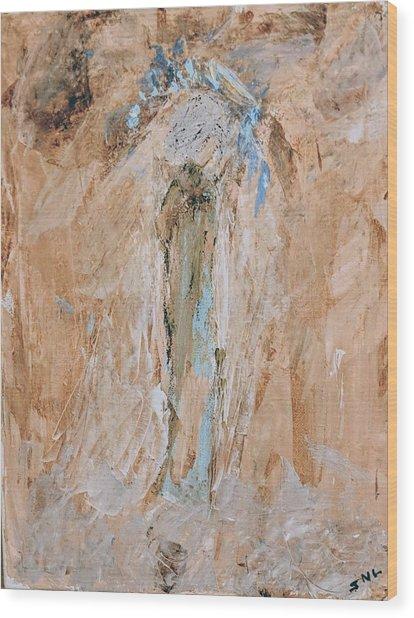 Granny Angel Wood Print