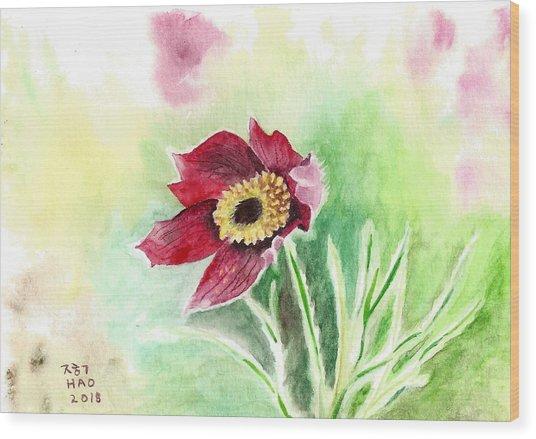 Granny Flower 2 Wood Print