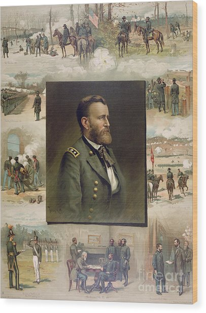 Grant From West Point To Appomattox Wood Print