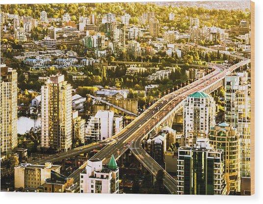 Granville Street Bridge Vancouver British Columbia Wood Print