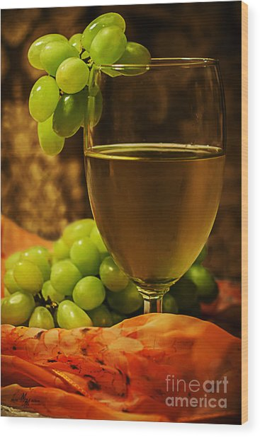 Grape Juice Wood Print