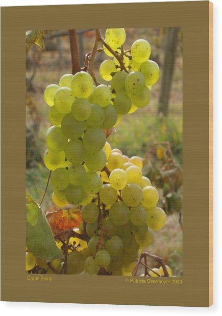 Grape Spiral Wood Print