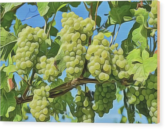 Grapes Not Wrath Wood Print