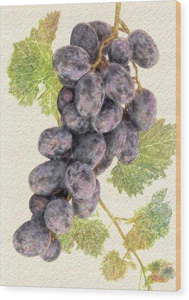 Luscious Grapes Wood Print