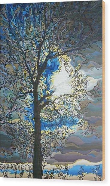 Grasping At Sunshine Wood Print
