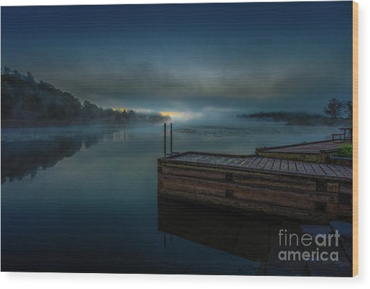 Grass Creek Sunrise 1 Wood Print