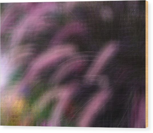 Grasses Wood Print by Eileen Shahbazian
