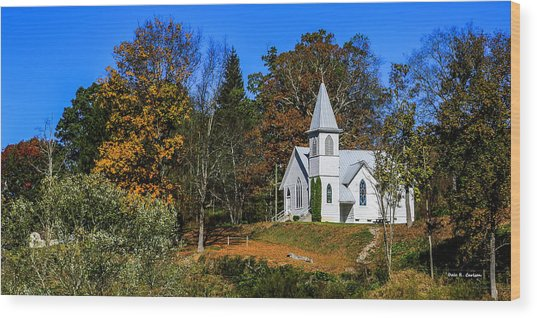 Grassy Creek Methodist Church Wood Print