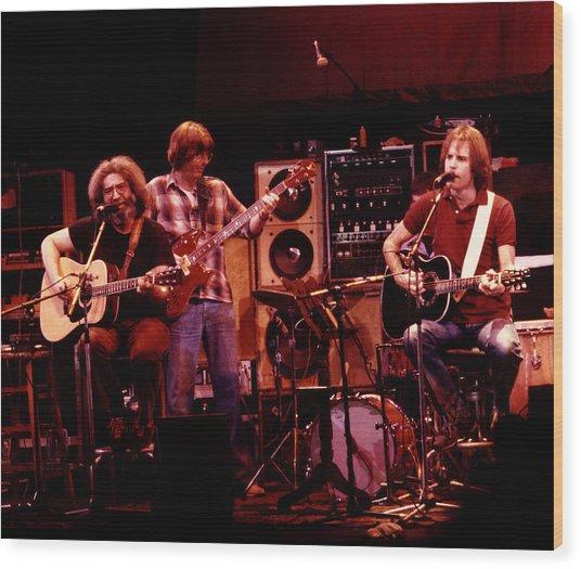 Grateful Dead Acoustic 1980 Wood Print