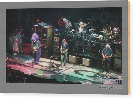 Grateful Dead Jammin With Barney Wood Print