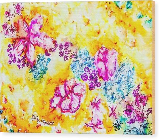 Gratitude Blooms Wood Print