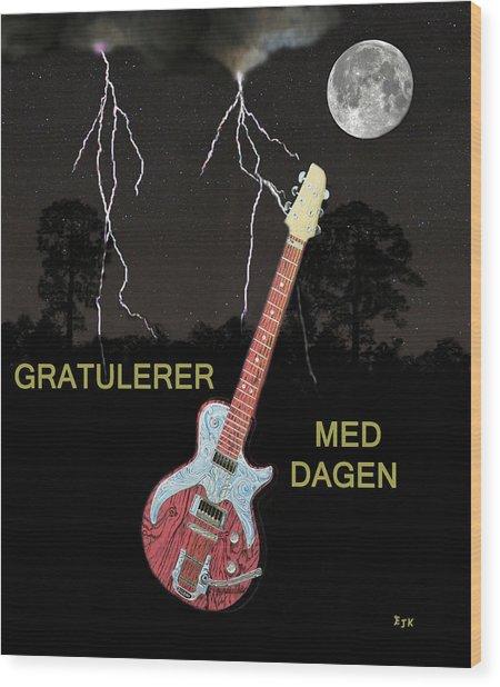 Gratulerer Med Dagen Wood Print