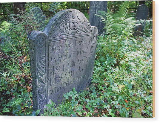 Grave Of Mary Hall Wood Print