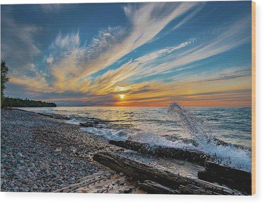 Graveyard Coast Sunset Wood Print