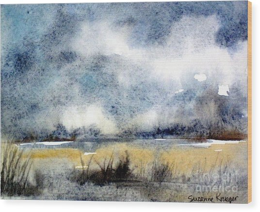 Gray Day Wood Print by Suzanne Krueger
