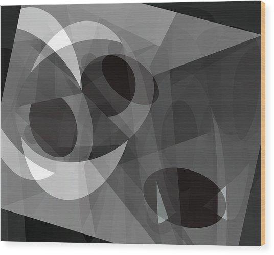Gray On Gray Wood Print by Lynda Lehmann