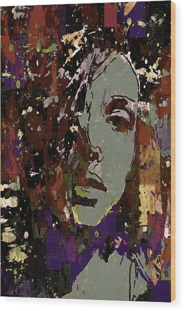 Gray Portrait Wood Print