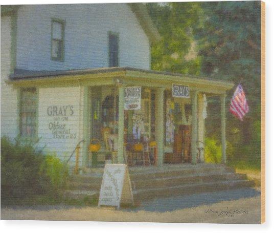 Gray's Store In Little Compton Rhode Island Wood Print
