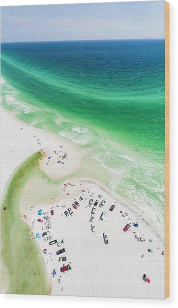 Grayton Beach Hang Time Wood Print