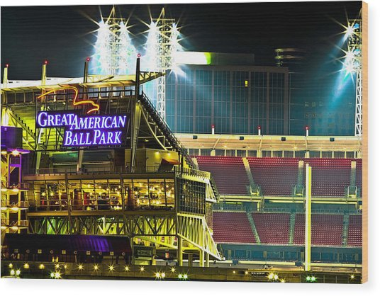 Great American Ballpark Wood Print