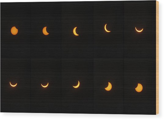 Great American Eclipse 2017 Wood Print