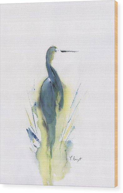 Blue Heron Turning Wood Print