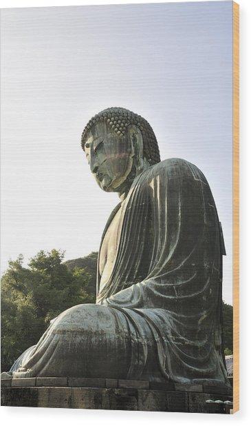 Great Buddha Of Kamakura Wood Print by Andy Smy