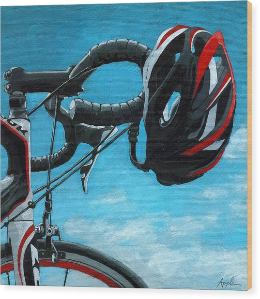 Great Day - Bicycle Oil Painting Wood Print