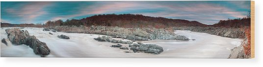 Great Falls Apres Sandy Wood Print