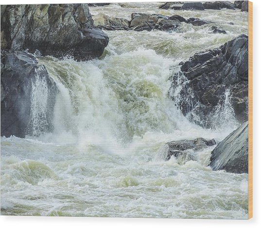 Great Falls Of The Potomac Wood Print