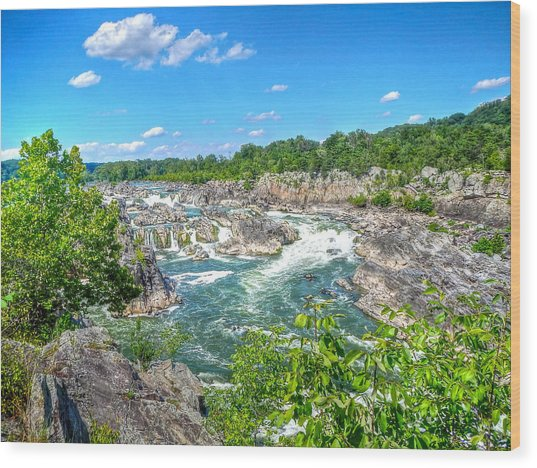Great Falls On The Potomac Wood Print