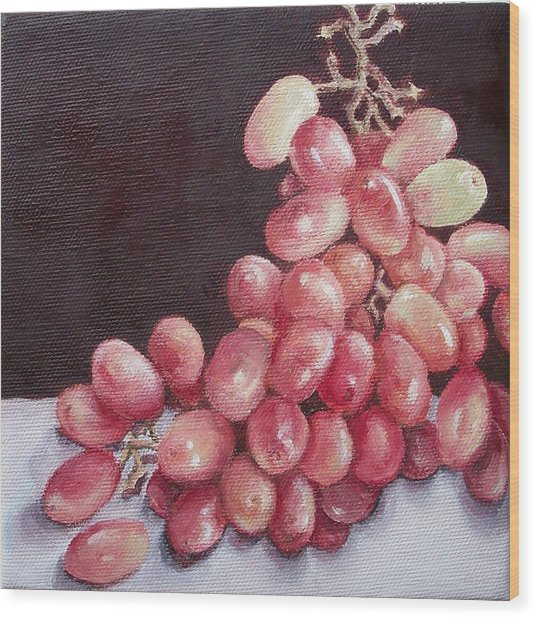 Great Grapes 2 Wood Print by Irene Corey