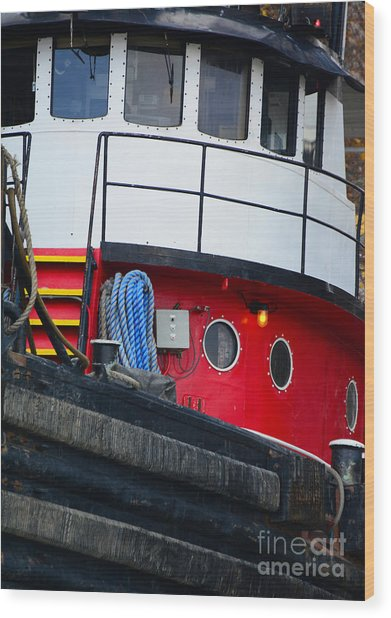 Great Lakes Tugboat Wood Print