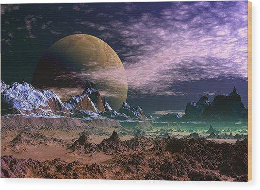 Great Moona. Wood Print by David Jackson