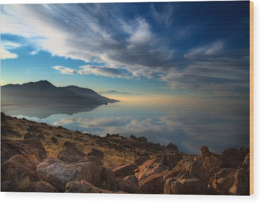 Great Salt Lake Utah Wood Print