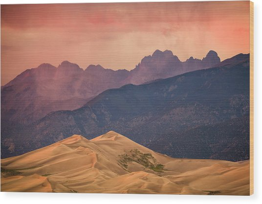 Great Sand Dunes Colorado Wood Print